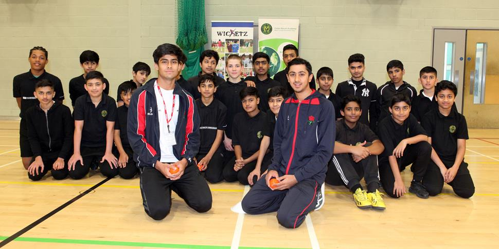 Haseeb Hameed launches Wicketz programme.jpg